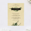 Modern Greenery Leaves Wooden Wedding Invitations