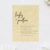 Modern Hand Writing Feature Font Wooden Wedding Invitations