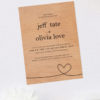 Love Heart Wooden Wedding Invitations