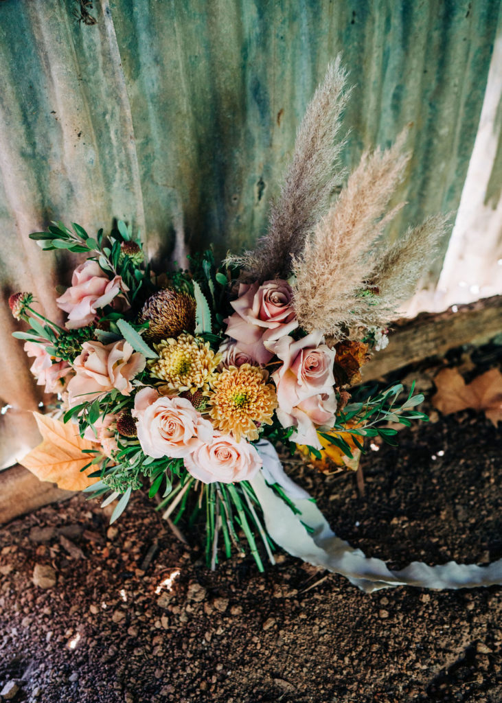 Native Florals Wedding Bouquet Inspiration garden wedding adelaide hills farm wedding
