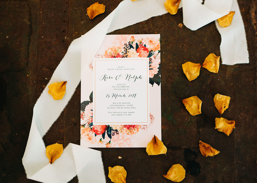 Native Florals Wedding Bouquet Inspiration native floral wedding invitations
