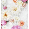 Colourful Floral Art Print - Floral Wall Art with Pink Peonies White Dahlias Orange Flowers