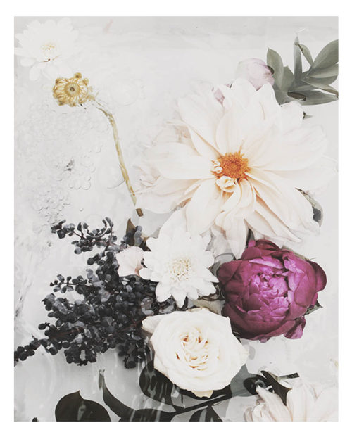 Faded Floral Art Print - Faded Floral Wall Art with Faded Flowers, Botanicals, Roses and Dahlias