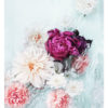 Photographic Flower Art Print - Photographic Floral Wall Art - Fuchsia Peony, Pink Flowers and White Dahlias