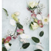 Abstract Floral Wall Art - Floral Art Print with Scattered Flowers, Roses and Leaves