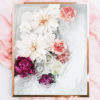Abstract Flower Photo Wall Art - Photo Art Print - Abstract Florals Pink Peonies White Dahlia Flowers