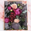 Photographic Native Art Print - Photographic Native Floral Wall Art - Native Botanical Greenery, Fuchsia Peonies and Flowers