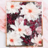 Burgundy Floral Photo Wall Art - Pink Burgundy Floral Photo Art Print - Dahlias and Orchids