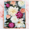 Colourful Floral Photo Art Print - Pink Orange Yellow Colourful Floral Photo Wall Art - Dahlia and Peony Flowers