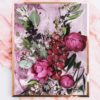 Purple Floral Art Print - Modern Purple Floral Wall Art - Peonies Native Botanicals